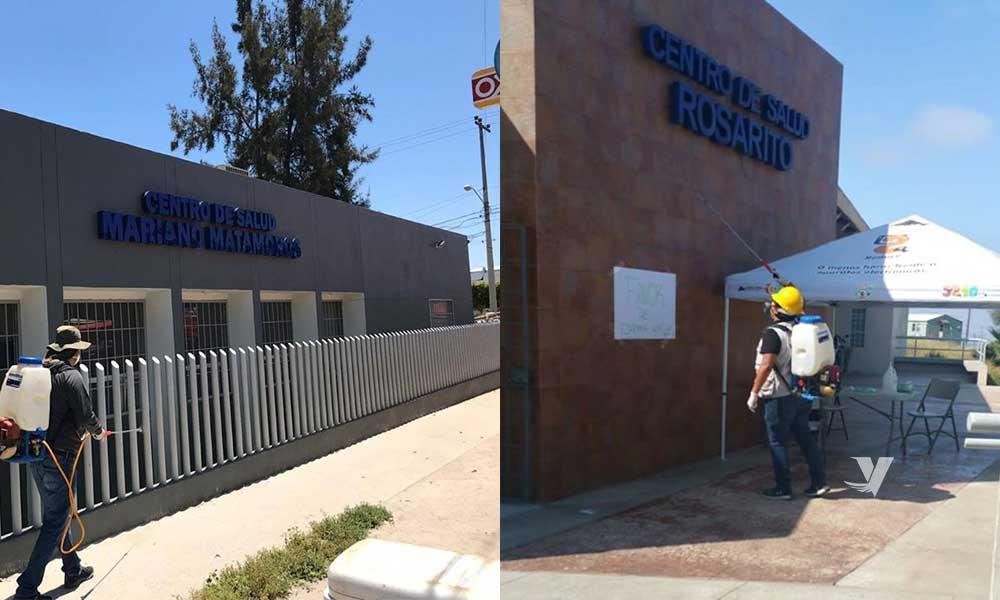 Sanitizan instalaciones de la Secretaría de Salud de Baja California