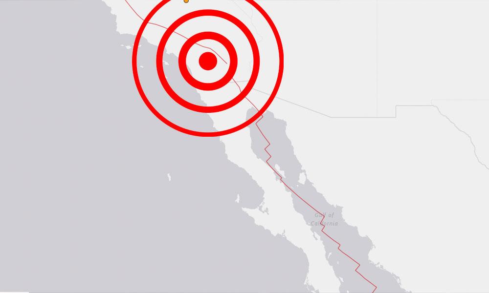 Sismo sacude al sur de California y Baja California