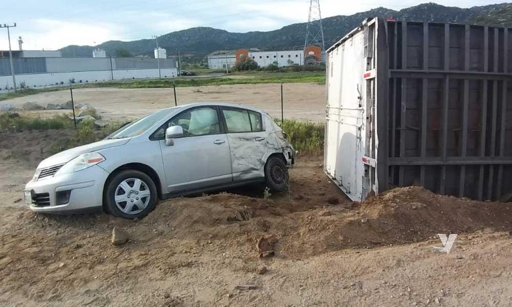 Se registra accidente de transito en San Pablo; Tecate
