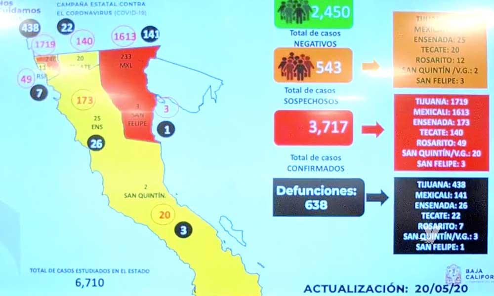 Aumenta el número de defunciones por COVID-19 en Baja California