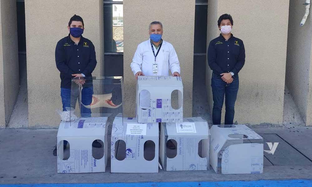 Realiza UABC donativo de cajas acrílicas de intubación al IMSS