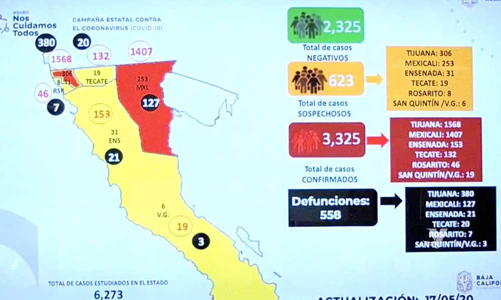 Registran 558 muertos por Covid-19 en Baja California