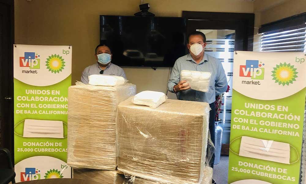 Recibe Gobierno de Baja California donativo de cubrebocas