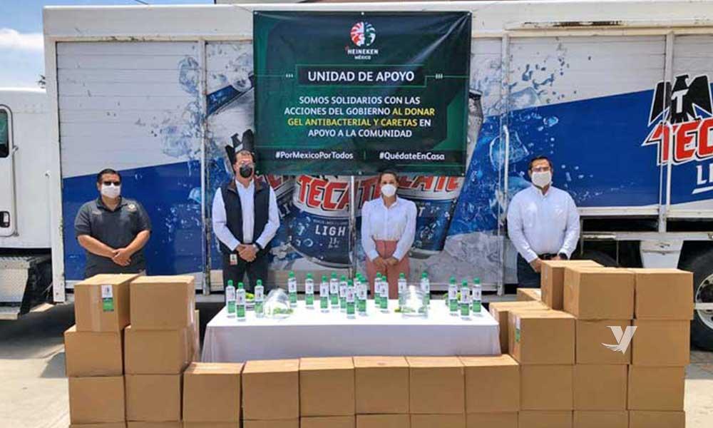 Recibe XXIII Ayuntamiento de Tecate donación por parte de Cervecería Heineken