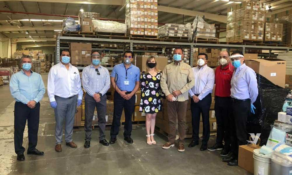 Recibe Gobierno de Baja California donativo médico por parte del sector empresarial