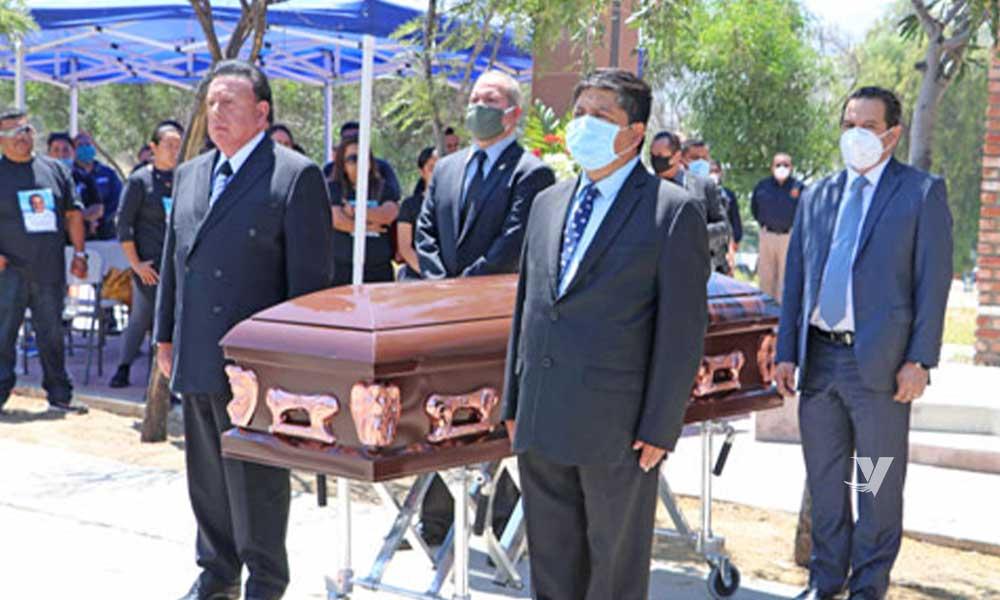 Rinden honores a oficiales de policías del XXIII Ayuntamiento de Tecate
