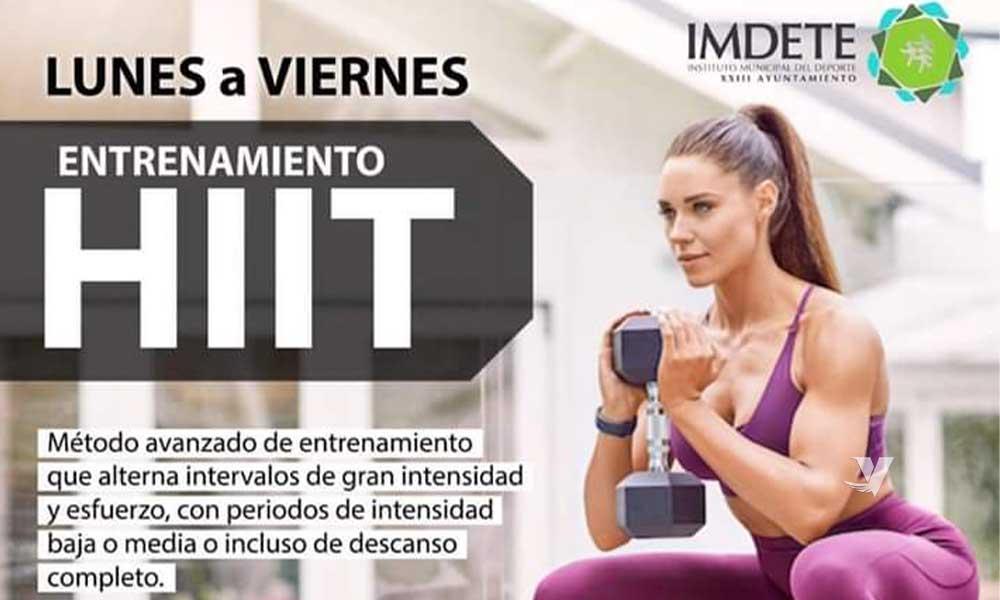"""Invita IMDETE a Programa de Entrenamiento Físico """"HIIT"""""""