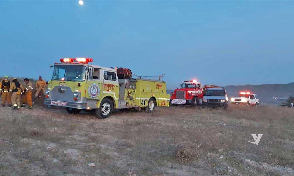Atienden incendio forestal en Valle de las Palmas