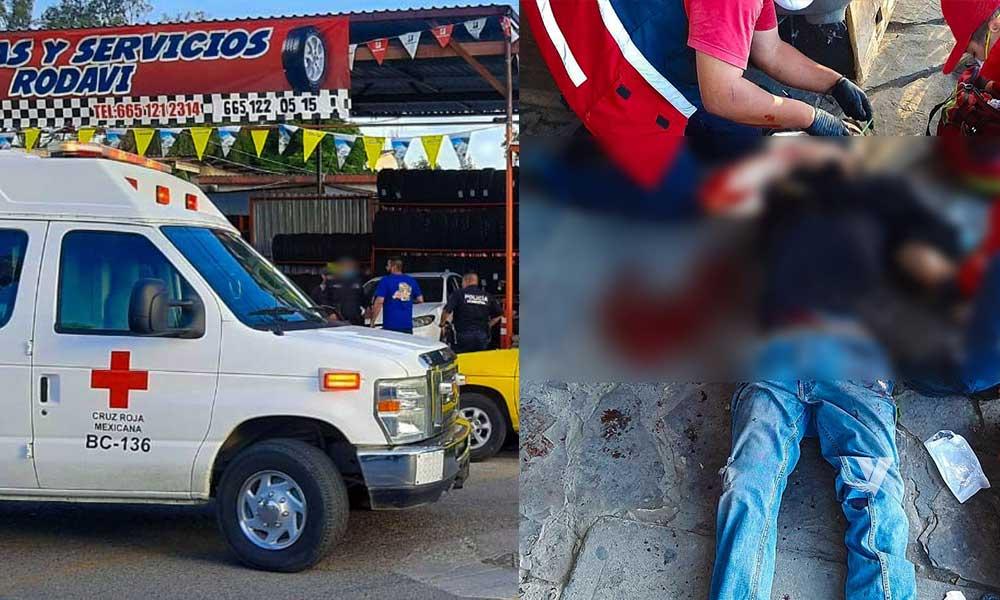 Lesionan con arma de fuego a empleado de llantera RODAVI