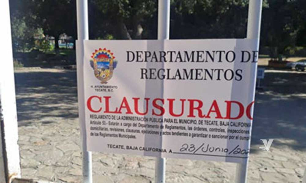 Clausuran albercas Tanamá en Tecate