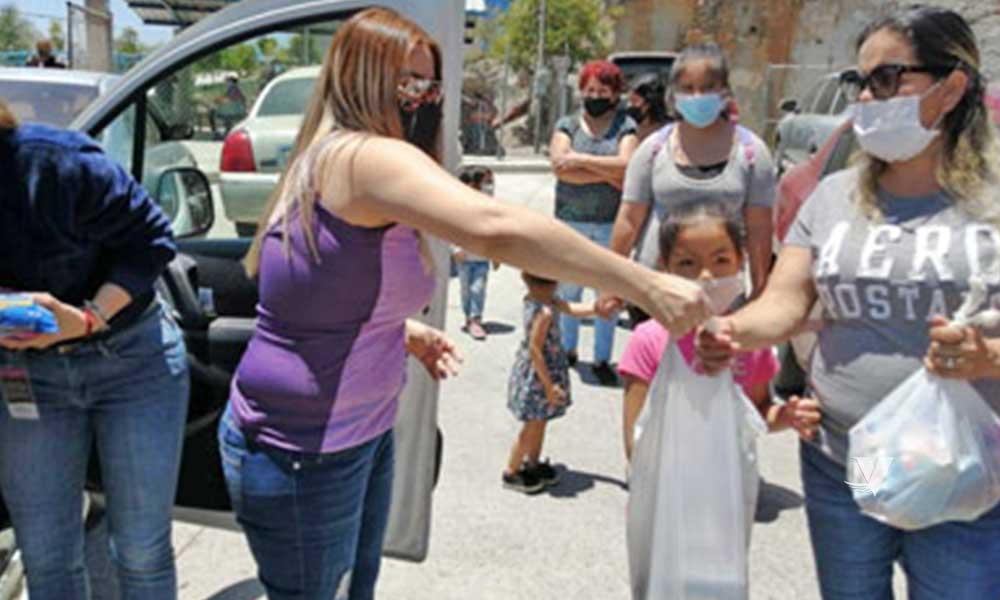 Realiza DIF Municipal entrega de lonches a niños de Tecate