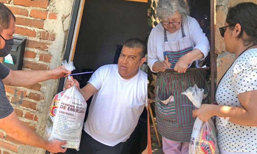 Entrega DIF Municipal despensas a familias vulnerables del municipio