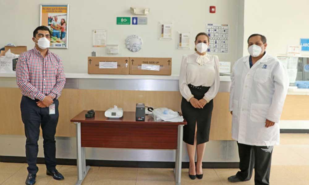 Recibe donación de 3 ventiladores mecánicos para el Hospital General de Tecate