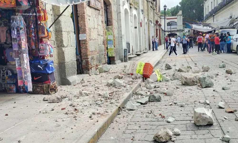 Una persona muerta y otra más herida tras sismo en Oaxaca