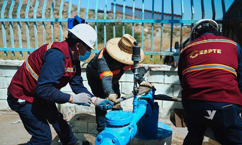 Promueve CESPTE obras de desarrollo en zona rural de Tecate