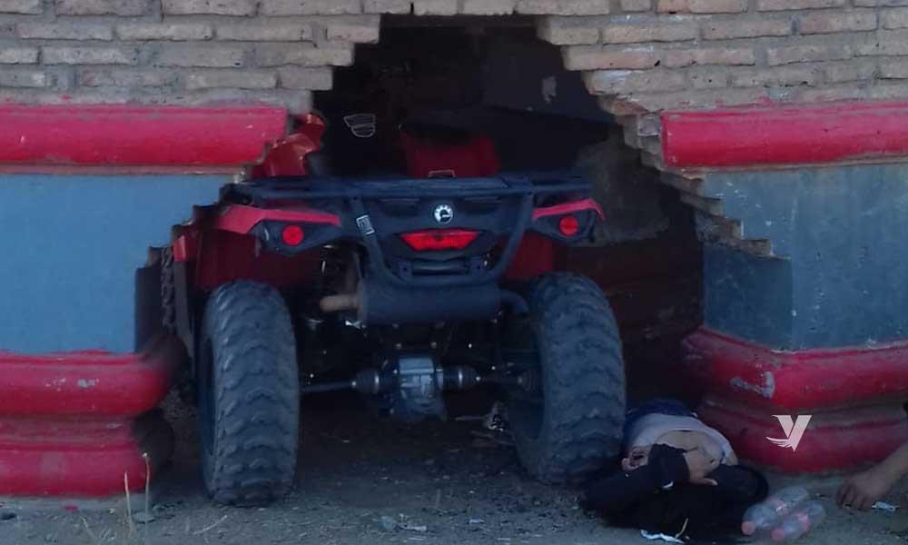 Accidente de cuatrimoto deja dos personas lesionadas
