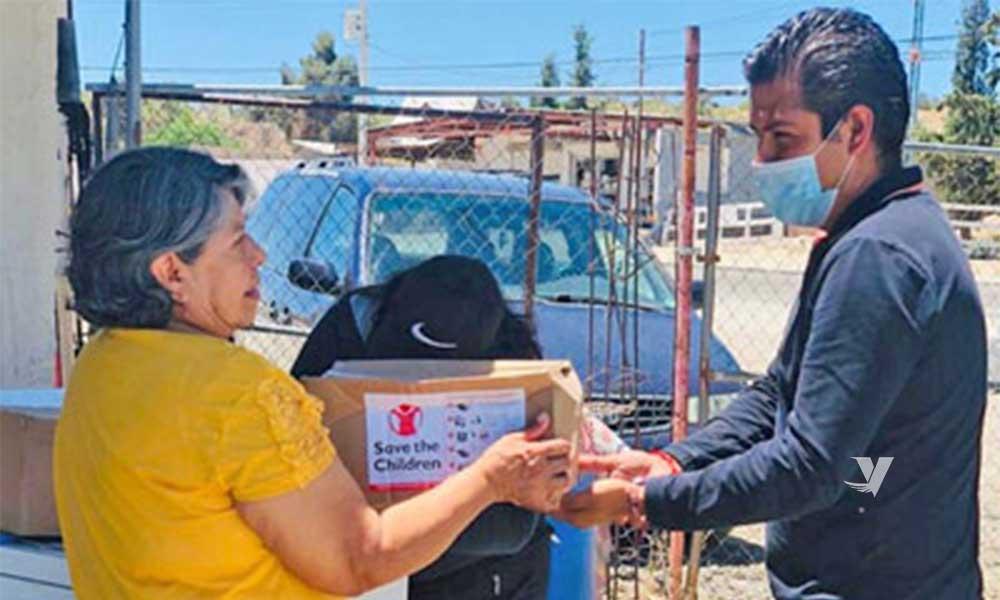 Realizan entrega de apoyos alimentarios en La Rumorosa