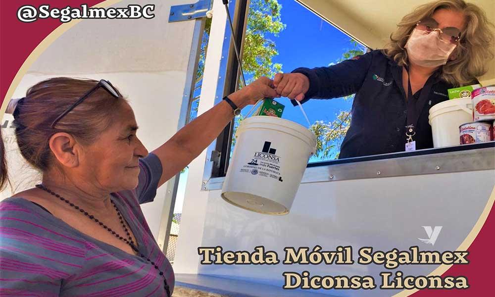 Calendario de recorrido Tienda Móvil de Diconsa-Liconsa en el Estado de Baja California