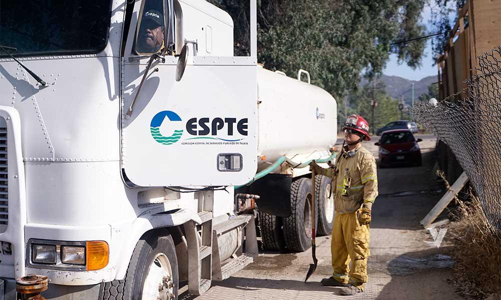 Fortalece CESPTE coordinación interinstitucional con Protección Civil y Bomberos de Tecate