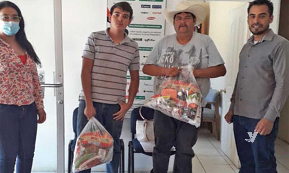 Entrega DIF Municipal despensas en Nueva Colonia Hindú y Valle de las Palmas