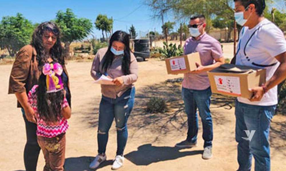 Se entregan 115 despensas a familias vulnerables Delegación Luis Echeverria