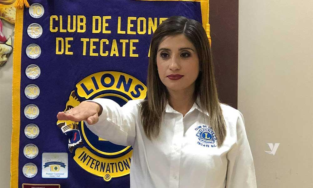 Diana Vázquez Ortega toma protesta como la primera presidente mujer al frente del Club de Leones de Tecate