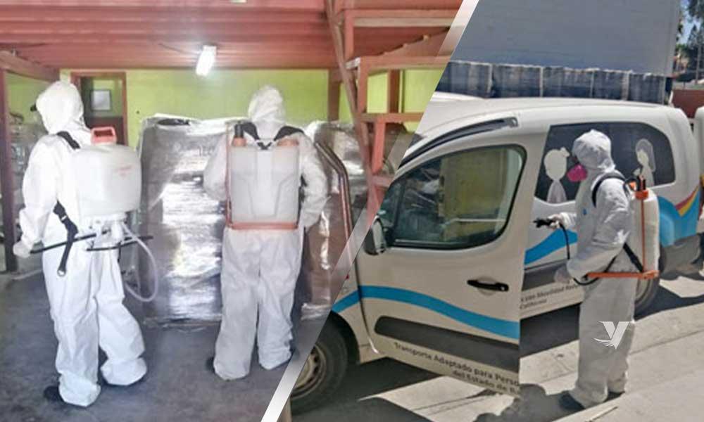 Llevan a cabo sanitización en instalaciones de DIF Municipal