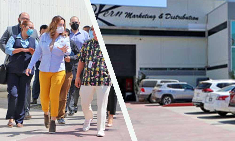 Recorre Alcandesa Zulema Adams instalaciones de empresas RKern Marketing & Distribution en Delegación Valle de las Palmas