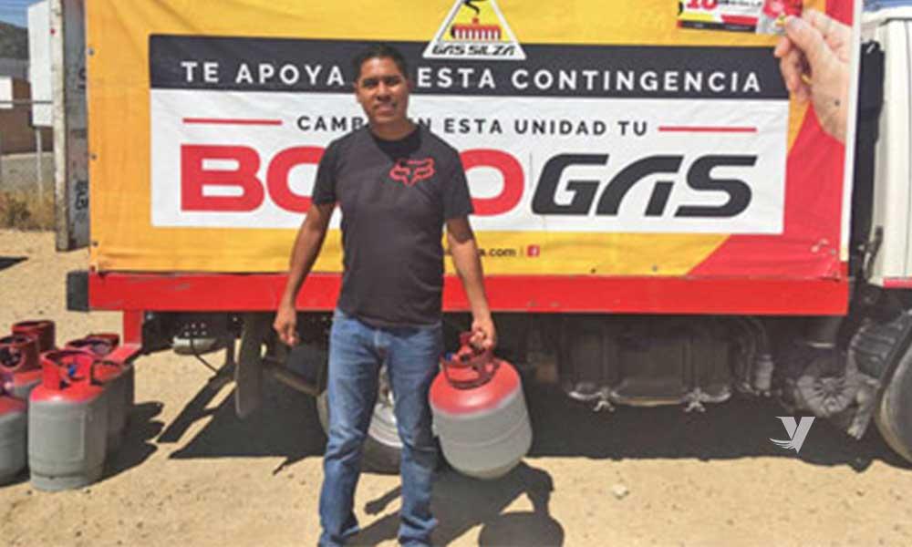 Realiza Gas Silza donación de minas de gas a familias de Tecate