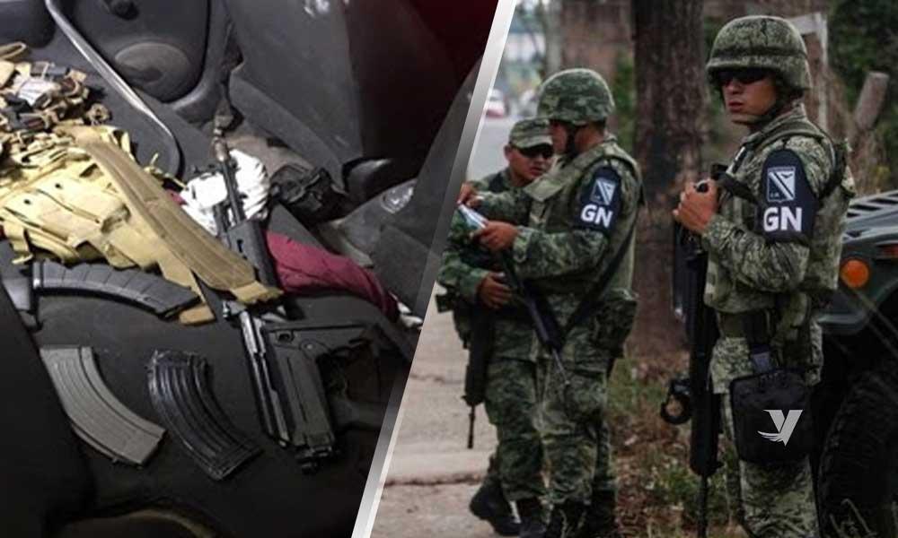 Asegura Guardia Nacional armas y equipo táctico en Sonora