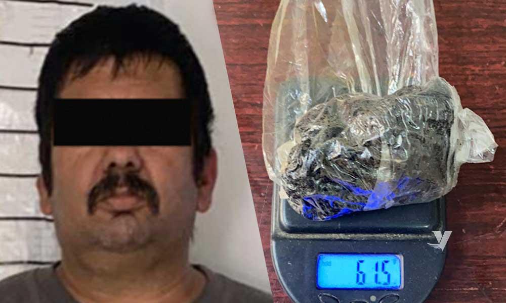Arresta FGE a sujeto por  posesión de heroína