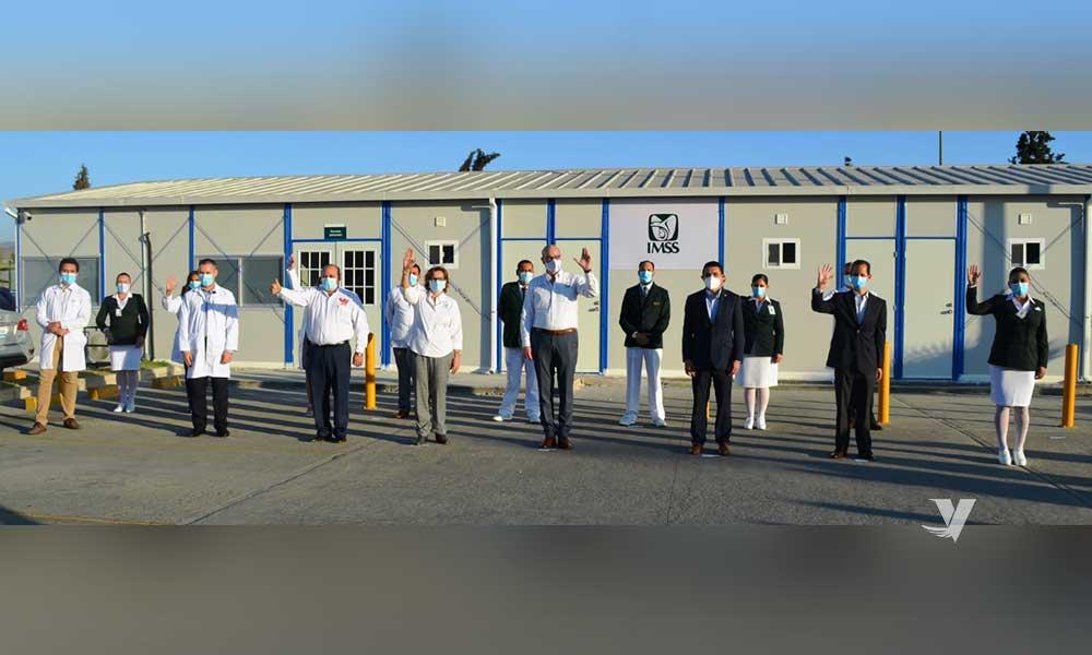 Inauguran módulo hospitalario para atención de pacientes COVID-19 en Tijuana