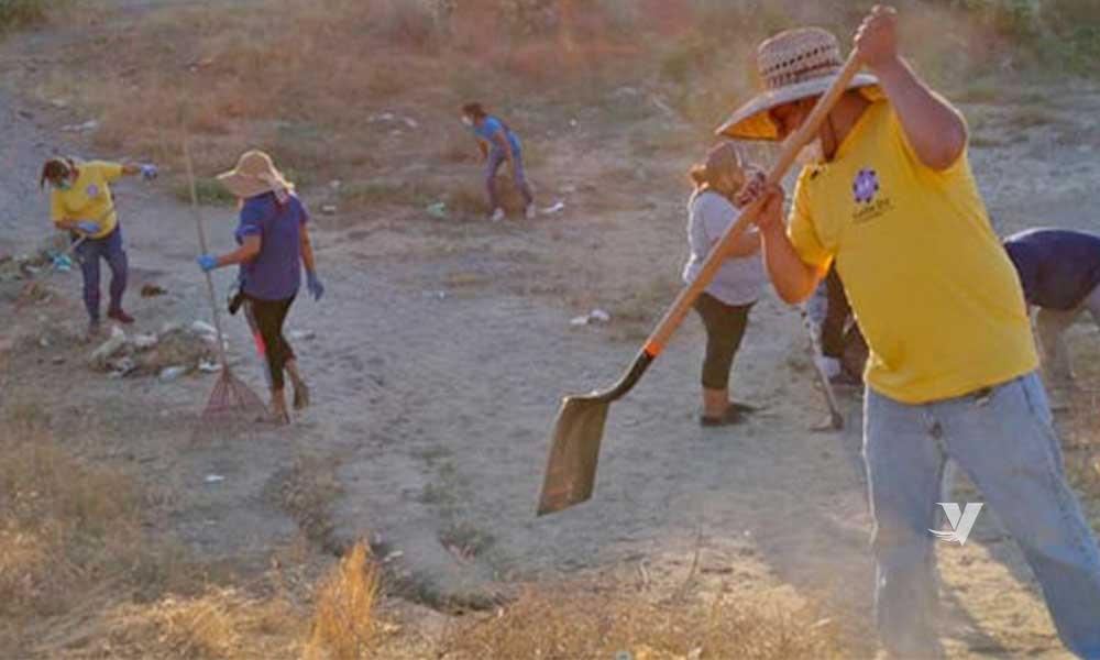 Llevan a cabo jornada de limpieza en Colonia San José