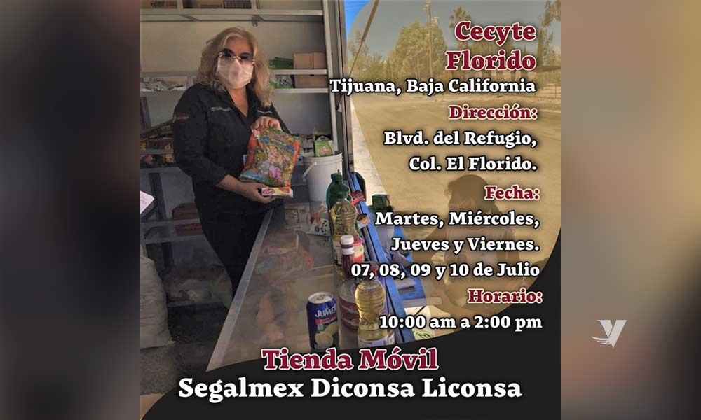 Tienda Móvil Segalmex-Diconsa-Liconsa estará en El Florido en Tijuana