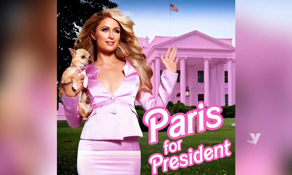 Paris Hilton también se postula para presidenta de Estados Unidos