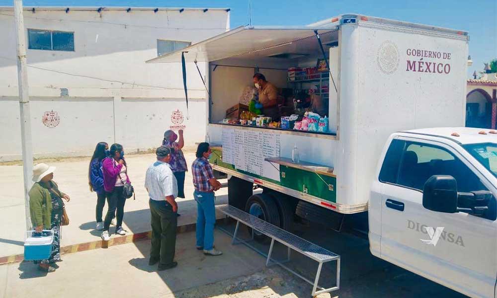 Tienda Móvil de Diconsa-Liconsa atiende a la comunidad Triqui del Valle de San Quintín