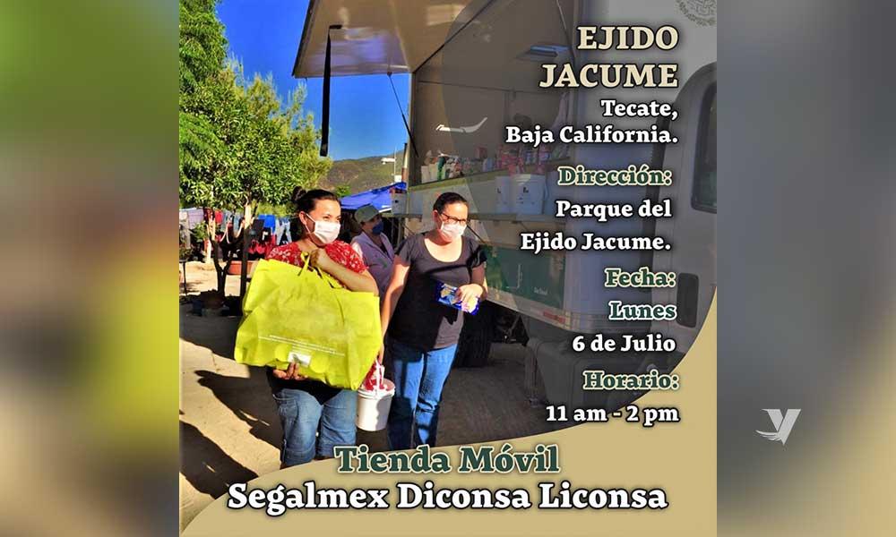 Tienda Móvil de Segalmex-Diconsa-Liconsa estará  en el Ejido Jacume de Tecate