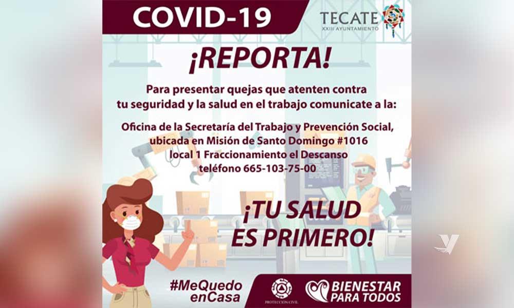 Protección Civil y Bomberos pide reportar empresas que no cuenten con las medidas de seguridad ante el COVID-19