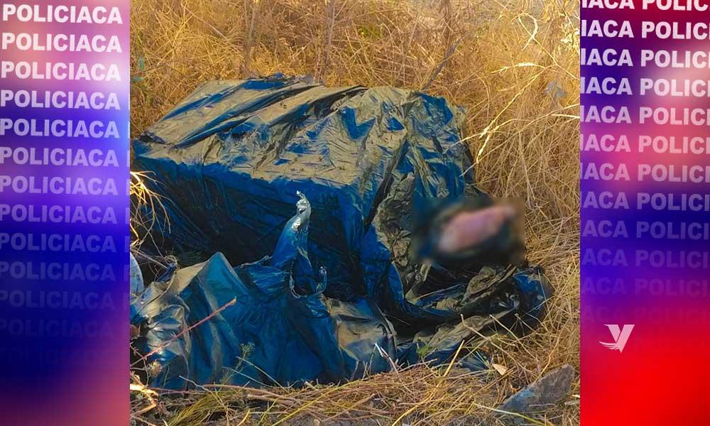 Localizan bolsa con restos humanos