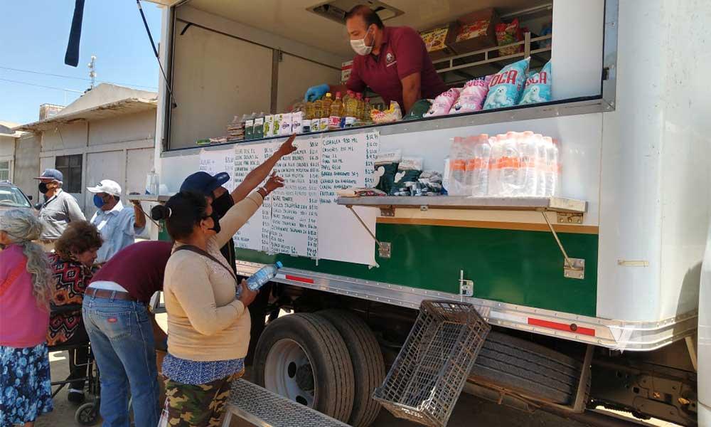 Diconsa opera con 5 tiendas móviles para atender a toda Baja California