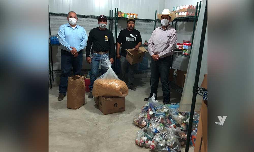 """Recibe Secretaría del Campo de B.C., donativo de alimentos para personal de apoyo del cuartel Forestal """"El Hongo"""" en La Rumorosa"""