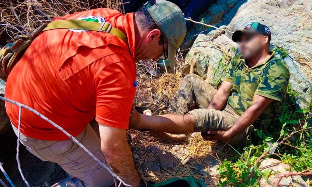 Grupo BETA de Tecate y Tijuana rescatan a una persona herida