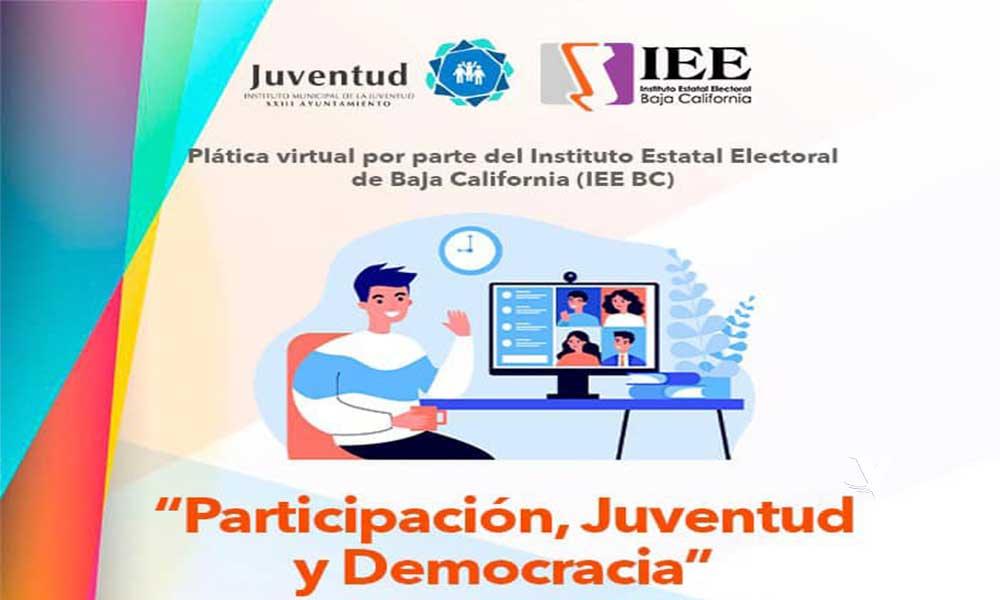 """Invita IMJUVET a la plática virtual """"Participación, Juventud y Democracia"""""""