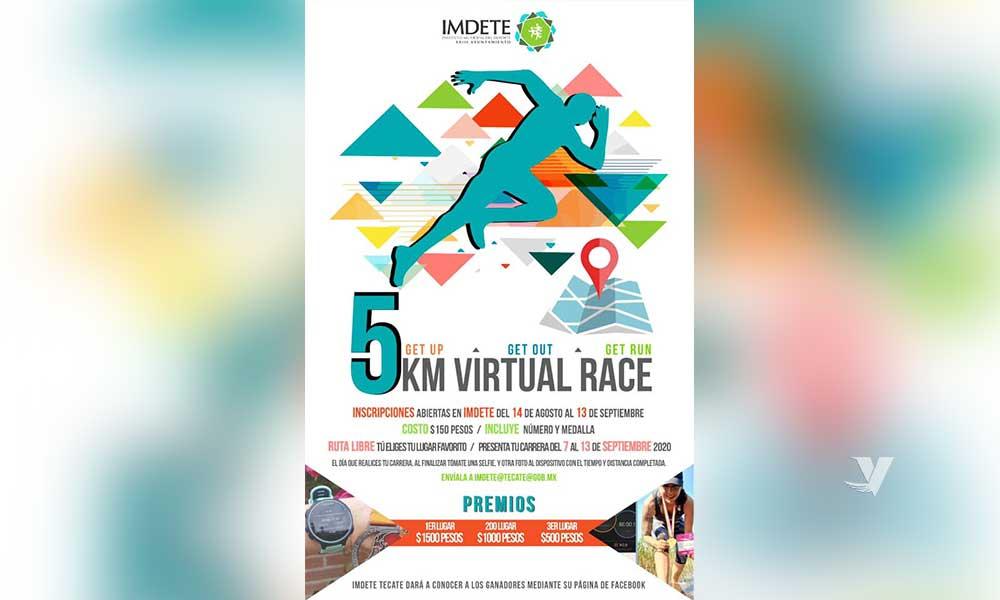 Invita IMDETE a la primera carrera virtual de 5 kilómetros