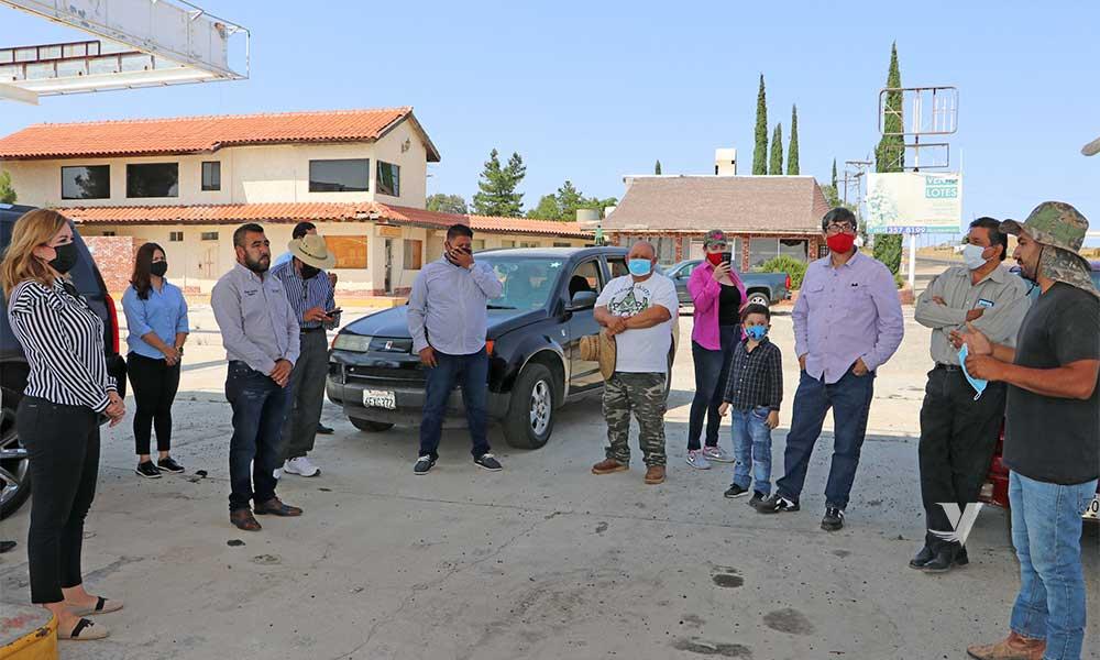 Se reúne alcaldesa Zulema Adams con familias de El Cóndor en zona rural