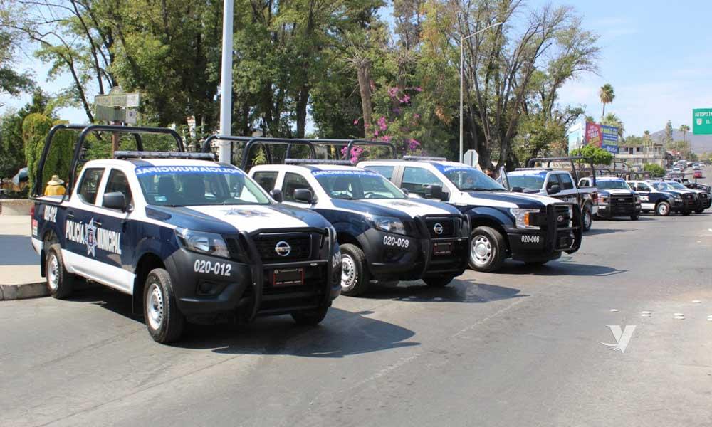 Alcaldesa Zulema Adams entrega 7 patrullas a la dirección de Seguridad Ciudadana y Tránsito Municipal