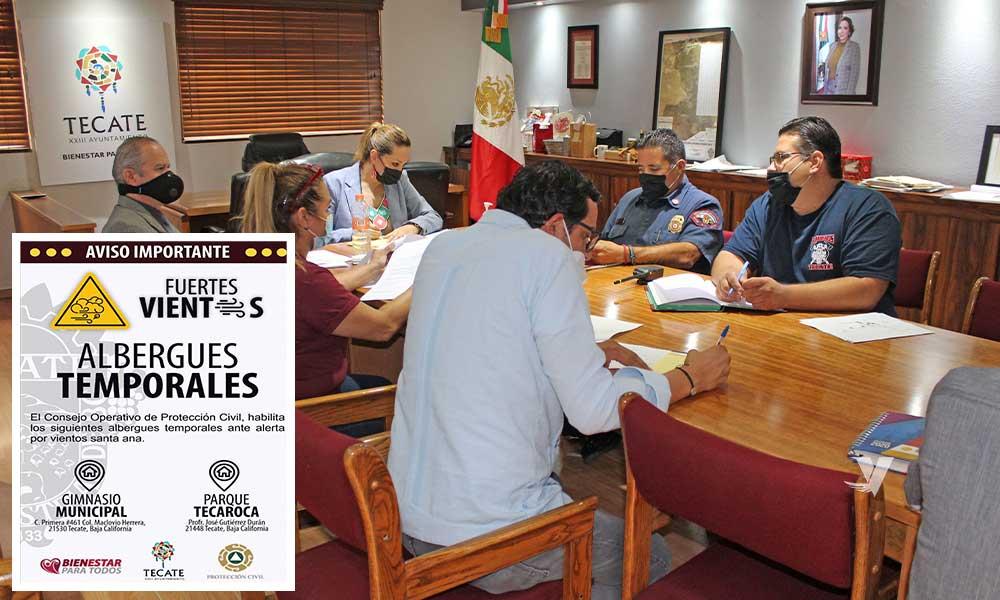 Se reúne consejo operativo de procedimiento civil ante alerta por vientos Santa Ana