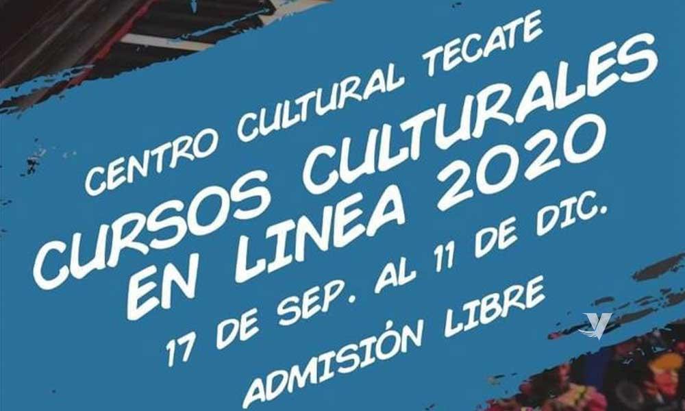 Invita centro cultural tecate a sus cursos culturales en línea