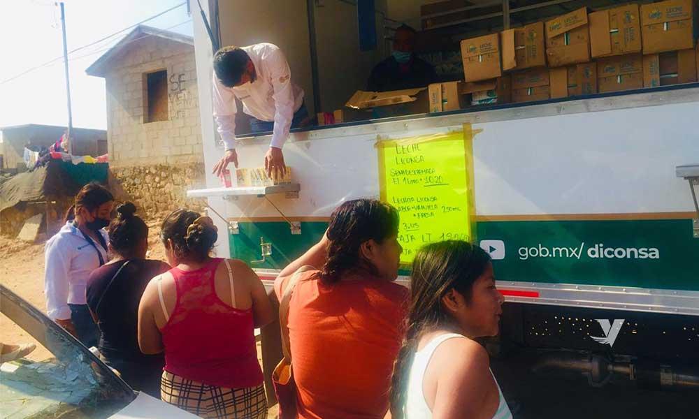 SEGALMEX-Diconsa-Liconsa, emprende intensas jornadas de trabajo en comunidades indígenas de Baja California