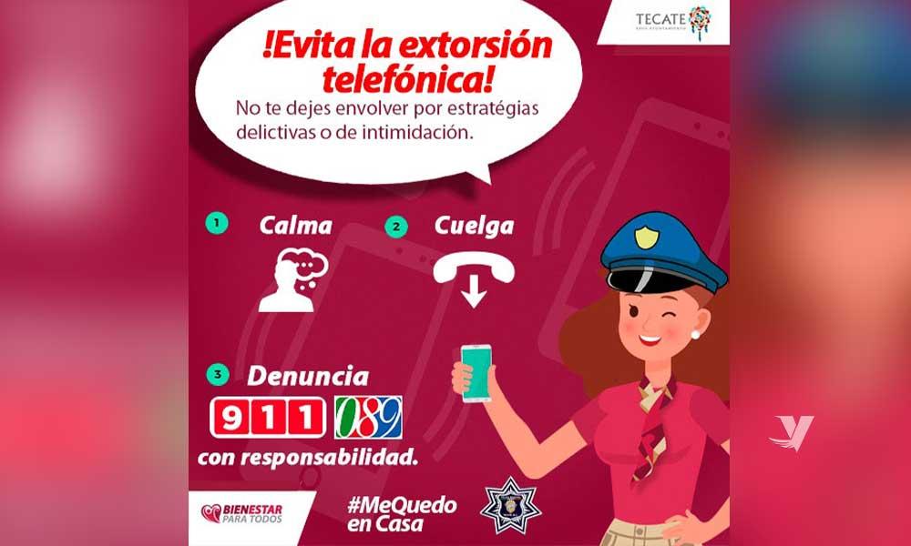 Emiten autoridades alerta sobre llamadas de extorsión en Tecate